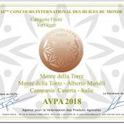 16° Concours International des huiles du monde 2018